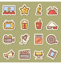 Cinema tags vector