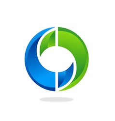 circle infinity technology logo vector image