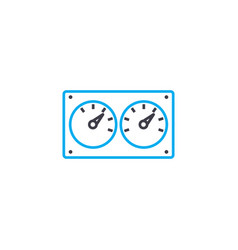 control devices linear icon concept control vector image