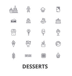 desserts cake food ice cream cupcake sweets vector image