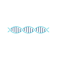 dna helix strand logo element vector image