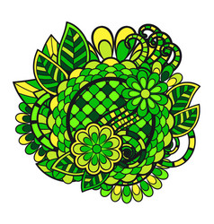 Entangle doodle floral ornament vector