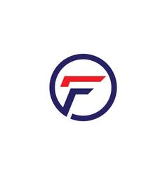 f letter logo business vector image