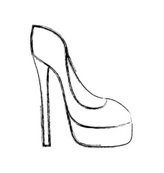 figure fashion heels high shoes style vector image
