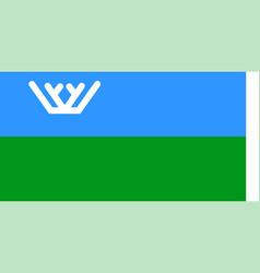 Flag khanty-mansi autonomous okrug in russian vector