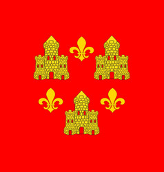 Flag of chinon in indre-et-loire of centre-val de vector