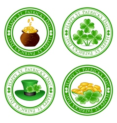 four leaf clover stamps vector image