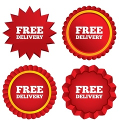 Free delivery sign icon Delivery button vector