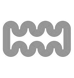 geometric black stripes swirling border pattern vector image