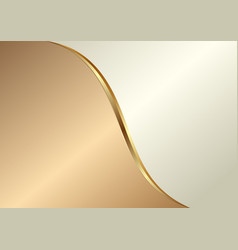 golden and creamy background divided into two vector image