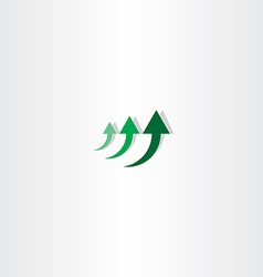 green arrow chart growth logo vector image