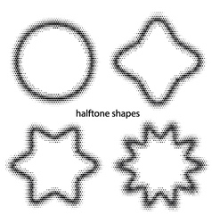 halftone dots shapes vector image