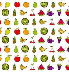 healthy fruits design vector image