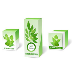 Herbal medicine packaging vector