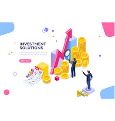 investments analysis concept vector image