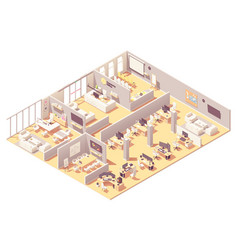 Isometric corporate office interior vector