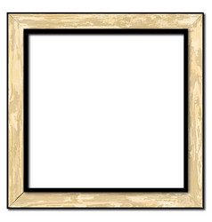 Light wood picture frame vector