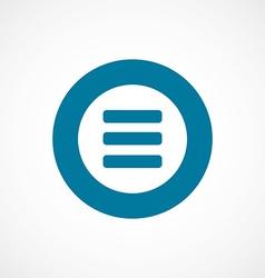 list bold blue border circle icon vector image