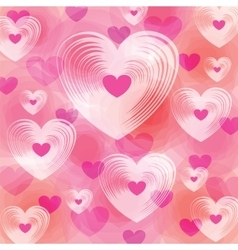 Many different size heart colorful background vector image