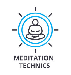 meditation technics thin line icon sign symbol vector image