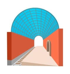 Metro station cartoon icon vector image