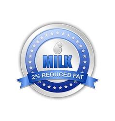Milk badge vector image