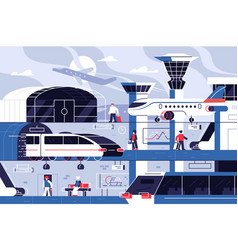 modern airport building vector image