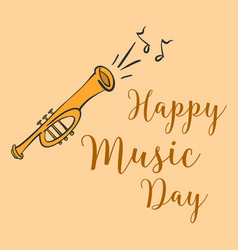 Music day card style doodle vector