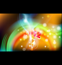 New year coffee abstract bokeh background blurred vector