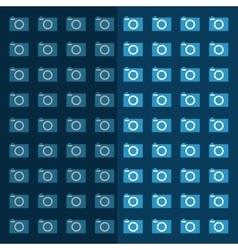 Photographic camera equipment vector