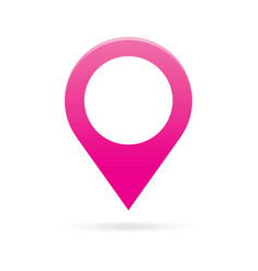 pink map pointer icon marker GPS location flag vector image