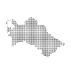 pixel map of turkmenistan dotted map of vector image