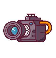professional dslr camera icon vector image