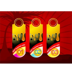 Promotion label background vector image