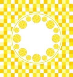 Round Frame with Sliced Lemons vector