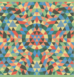Round geometrical triangle mandala background vector