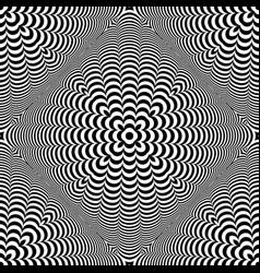 seamless 3d op art pattern vector image