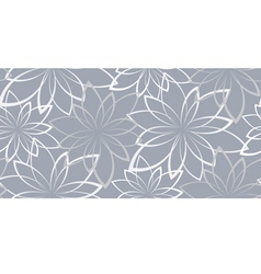 seamless background Flowers on a light blue vector image