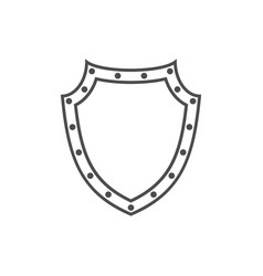shield icon shape emblem vector image