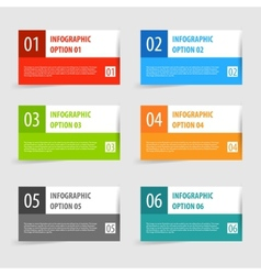 Simple modern infographics options banner set vector image