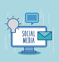 Social media online email creativity chat message vector