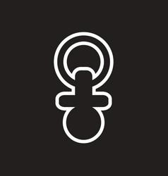 Stylish black and white icon baby nipple vector