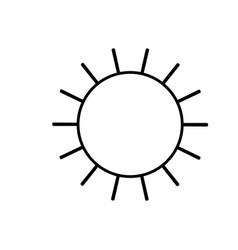 Sun icon in monochrome silhouette vector