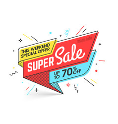 Super sale weekend special offer banner template vector