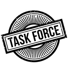 Task force rubber stamp vector