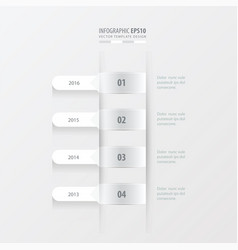 Timeline template white color vector