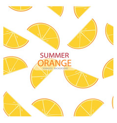 triangle slices of orange pattern seamless vector image