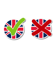 United kingdom voting buttons vector