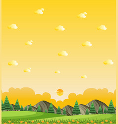 vertical nature scene or landscape countryside vector image