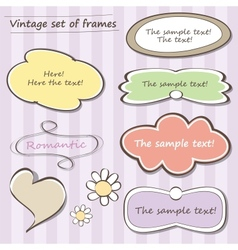 Vintage set frames vector